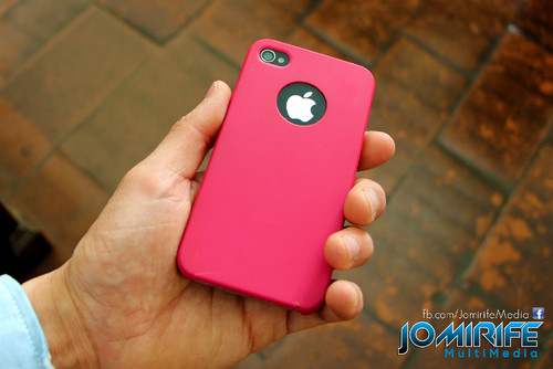 iPhone com capa rosa [en] iPhone with pink cover
