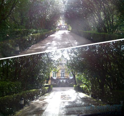 Entrada de carro na Quinta das Lágrimas em Coimbra