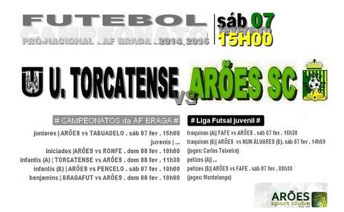 cartaz TORCATENSE vs ARÕES 7 fev 2015.jpg