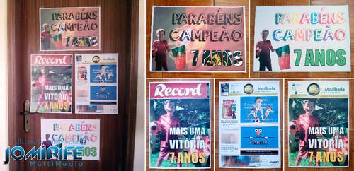Cartazes A3 para festa de aniversário com tema Futebol [en] Posters size A3 for birthday party with theme Football