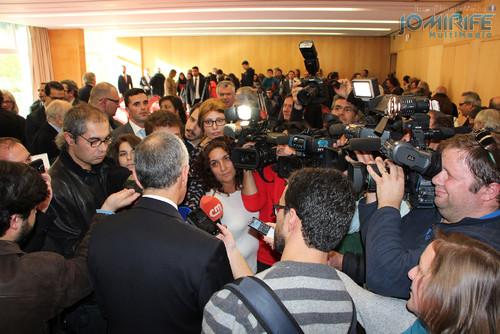 Marcelo Rebelo de Sousa com jornalistas