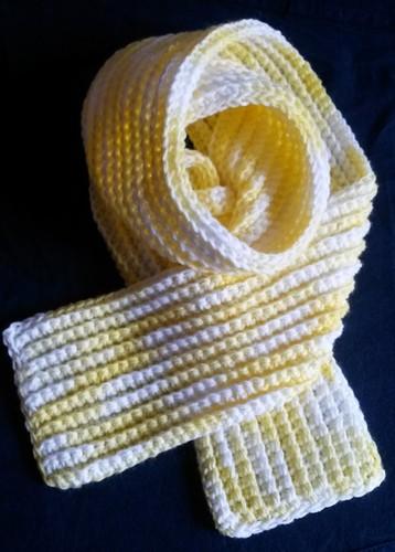 cachecol ribbed infantil matizado branco amarelo.j