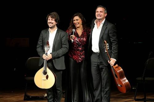 Fafá com Nuno Miguel Botelho e Hugo Filipe Gamboias