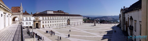 Panorâmica do pátio da Universidade de Coimbra [en] Yard of the University of Coimbra