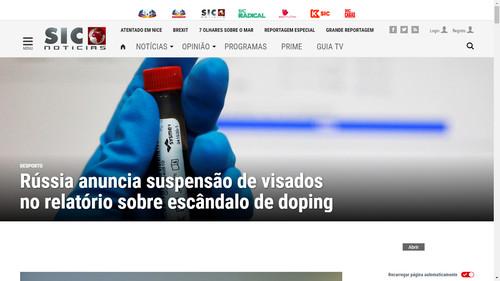 site SIC Noticias