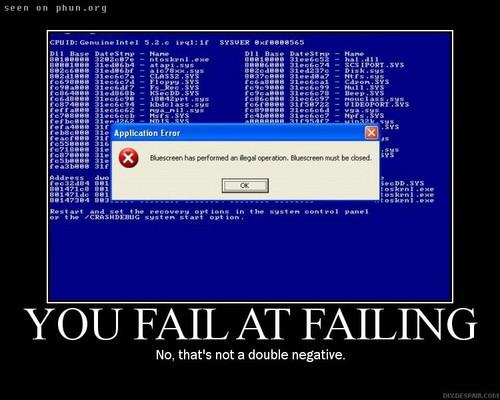 You Fail At Failing