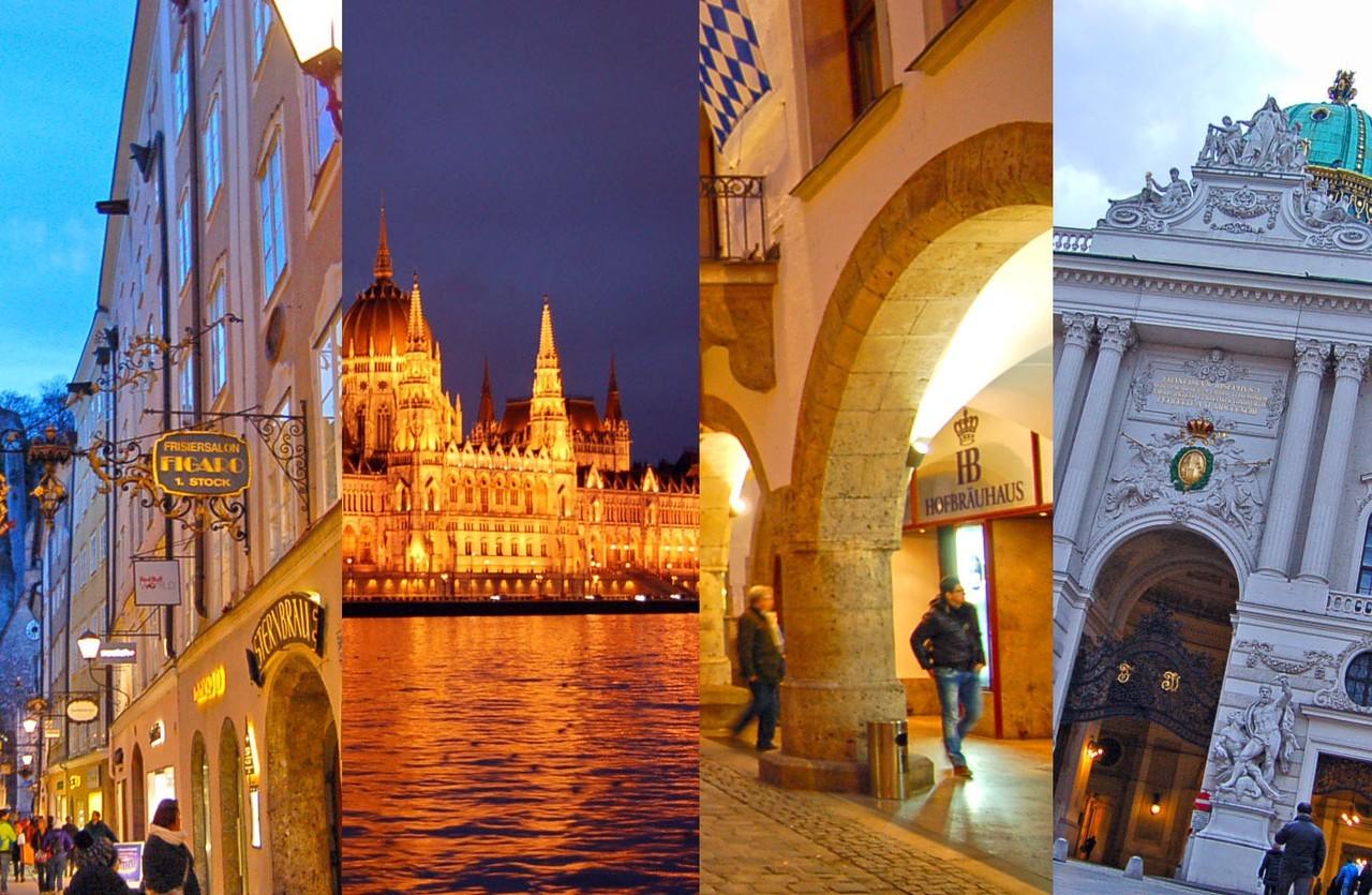 Salzburgo, Budapeste, Munique e Viena