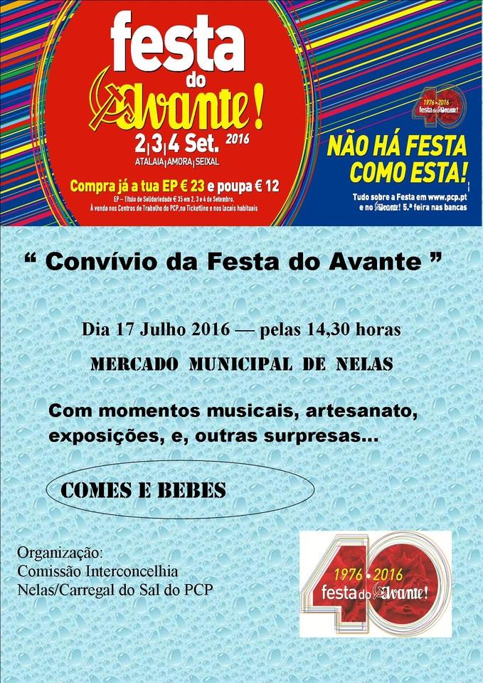 Cartaz Convívio Festa Avante Nelas