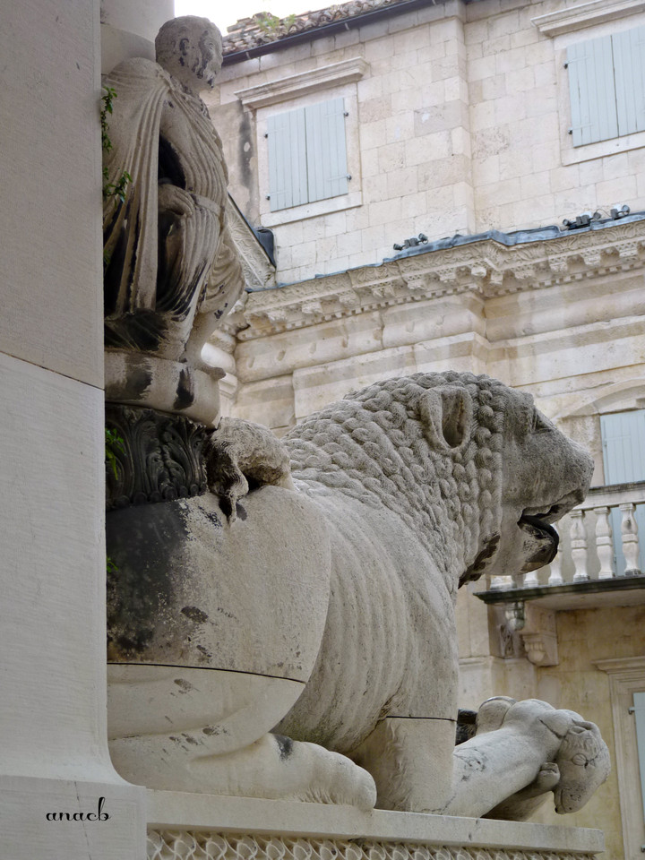 Croácia-Split-leão à entrada da Torre do Sino.j