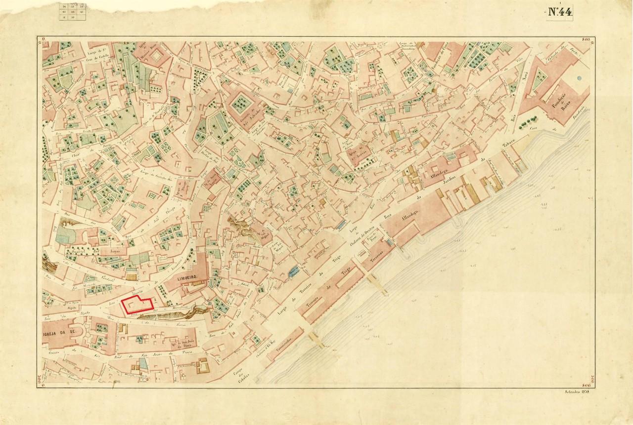 Atlas da carta topográfica de Lisboa nº 44, de F
