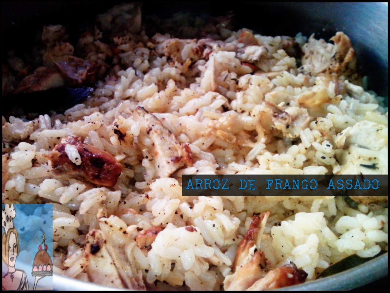 arroz de frango assado