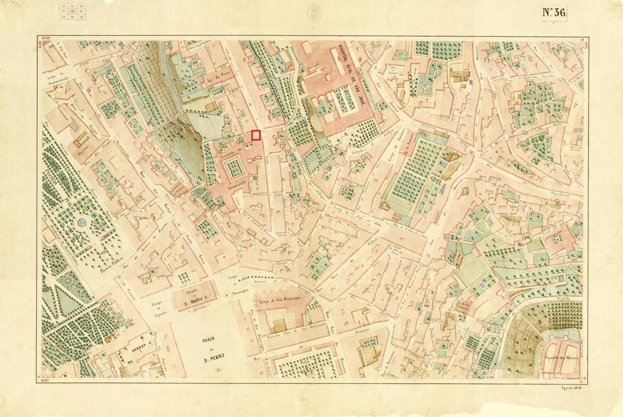 Atlas da carta topográfica de Lisboa nº 36, de F