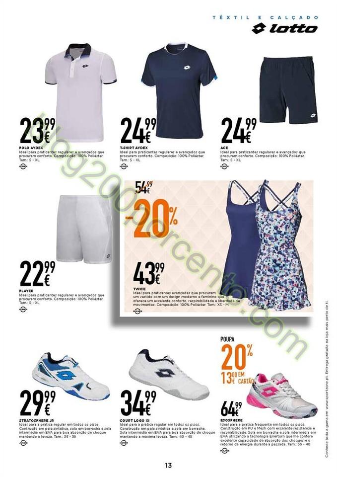 Novo Folheto SPORT ZONE promoções de 18 abril a