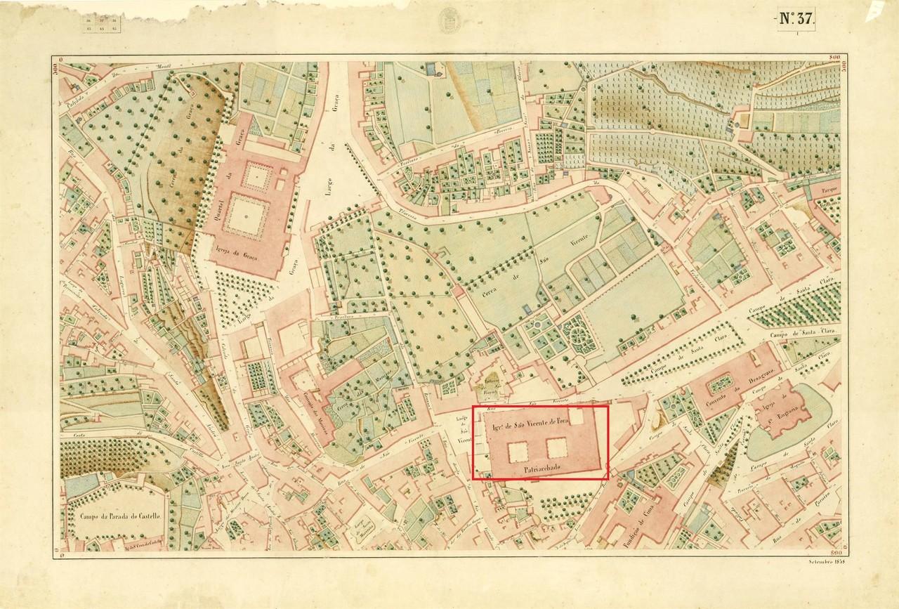 Atlas da carta topográfica de Lisboa, nº 37, de