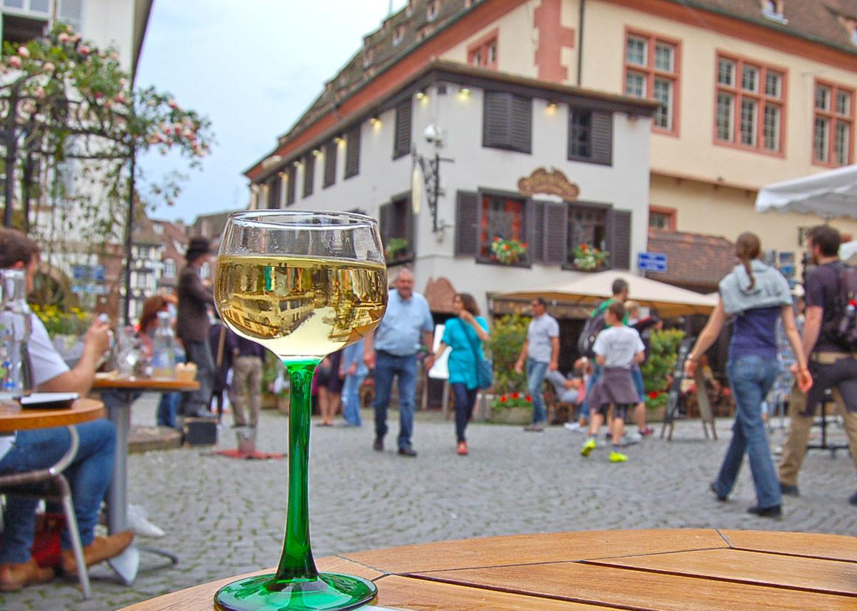 Almoço no centro histórico de Estrasburgo