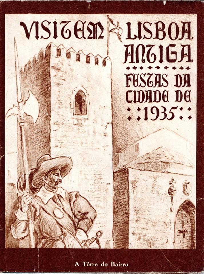 Capa do programa das festas da cidade de 1935, cor