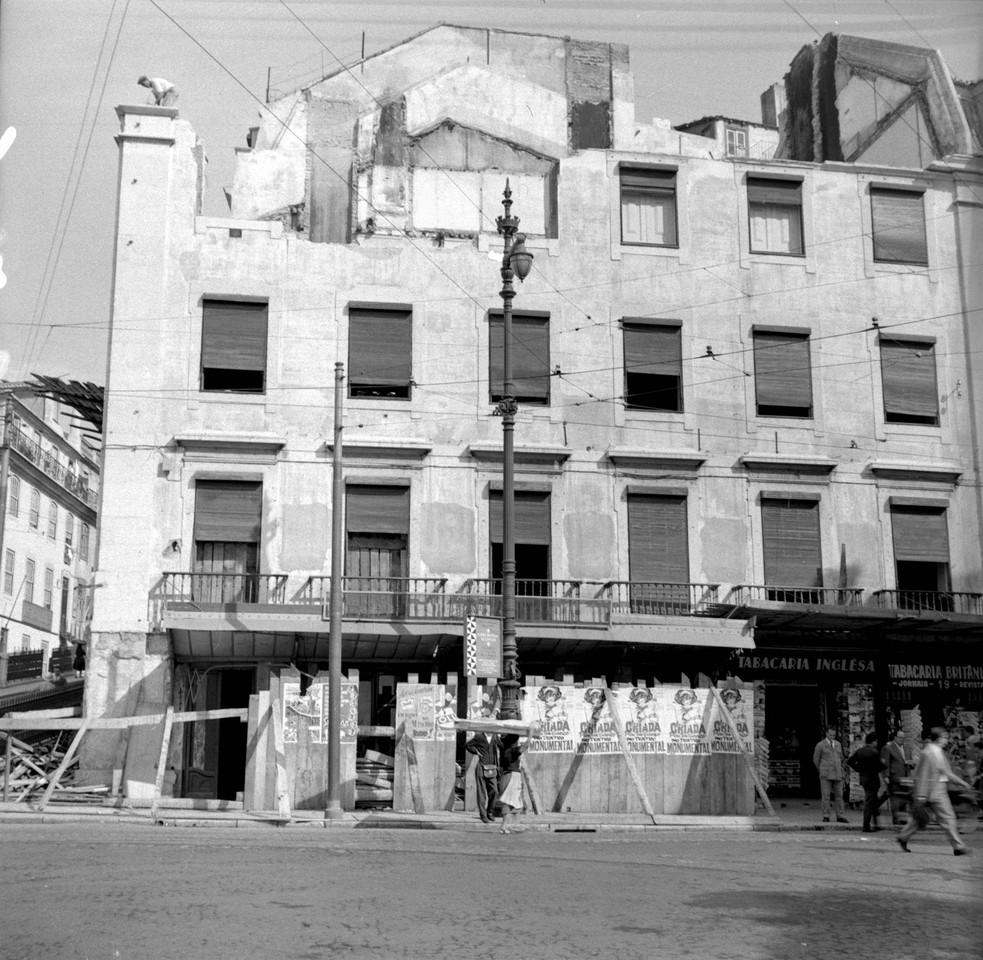 Prédio do antigo café Royal, 1961, foto de Artur