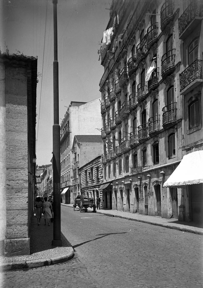 Casa das Varandas e Casa dos Bicos, 1941, foto de