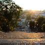 Nascer do sol na Universidade Coimbra Escadas