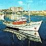 vila do conde motora rio ave barcos pescadores cor