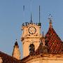 Nascer do sol na Universidade Coimbra Torre