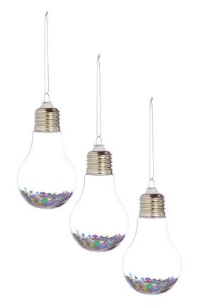 Kimball-1456801-Set Glitter Bulbs, Grade F E J, WK