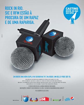 Anúncio de Imprensa Casting RiR SIC RFM