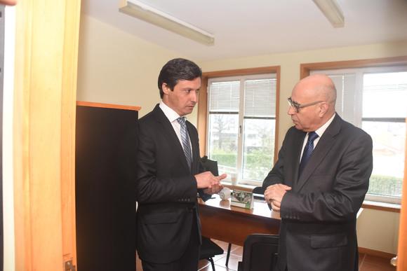 Paulo Cunha e Custódio Oliveira no Gabinete de Ap