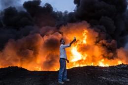 Selfie operação militar contra EI Mossul, Iraque
