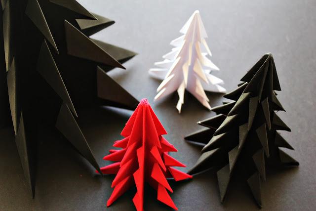 Como fazer uma rvore de natal em origami passo a passo - Fabrication de noel en papier ...