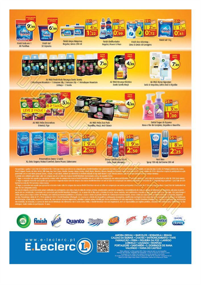 Novo Folheto E-LECLERC até 19 outubro - produtos