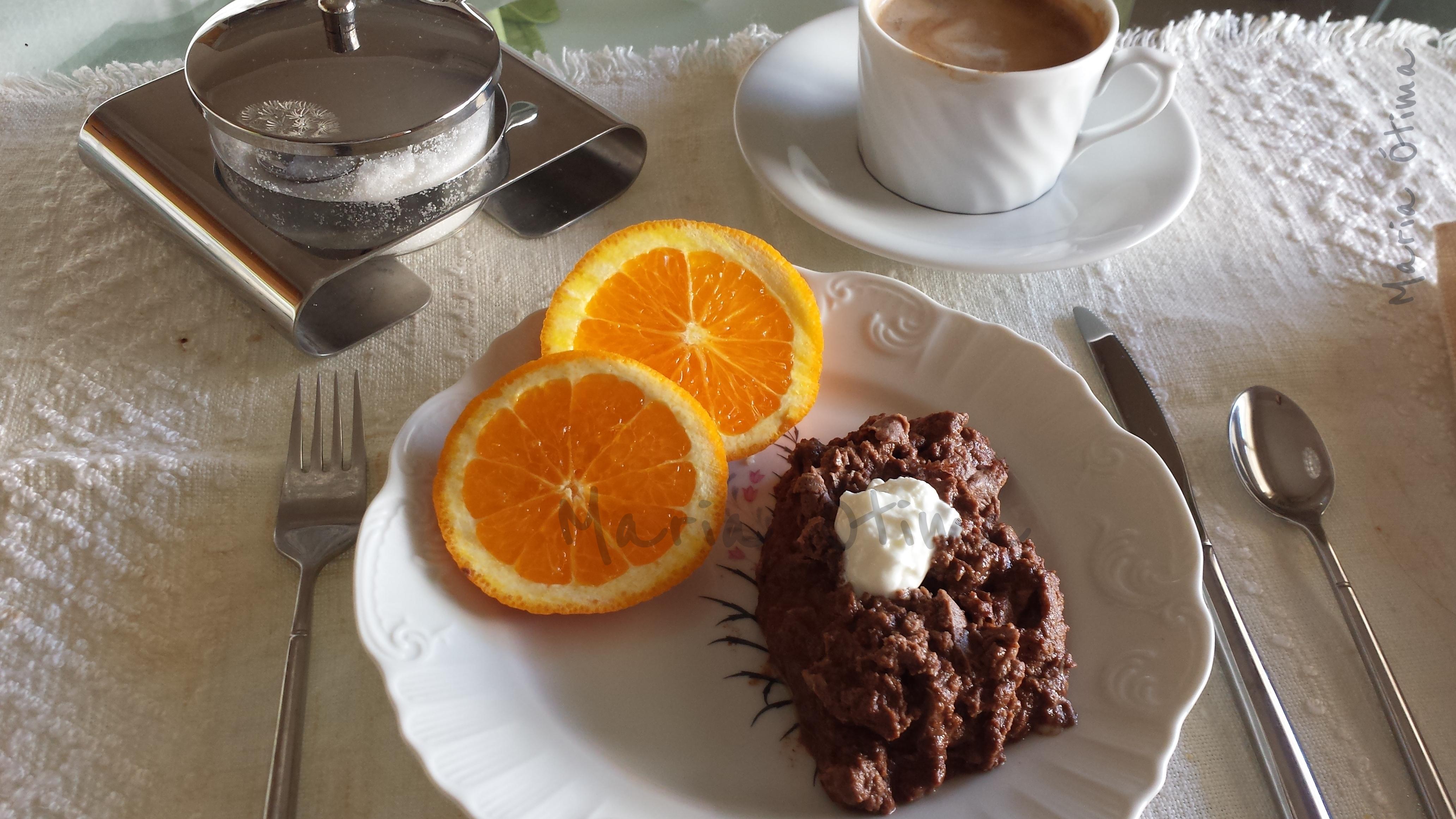 Ovos mexidos com chocolate