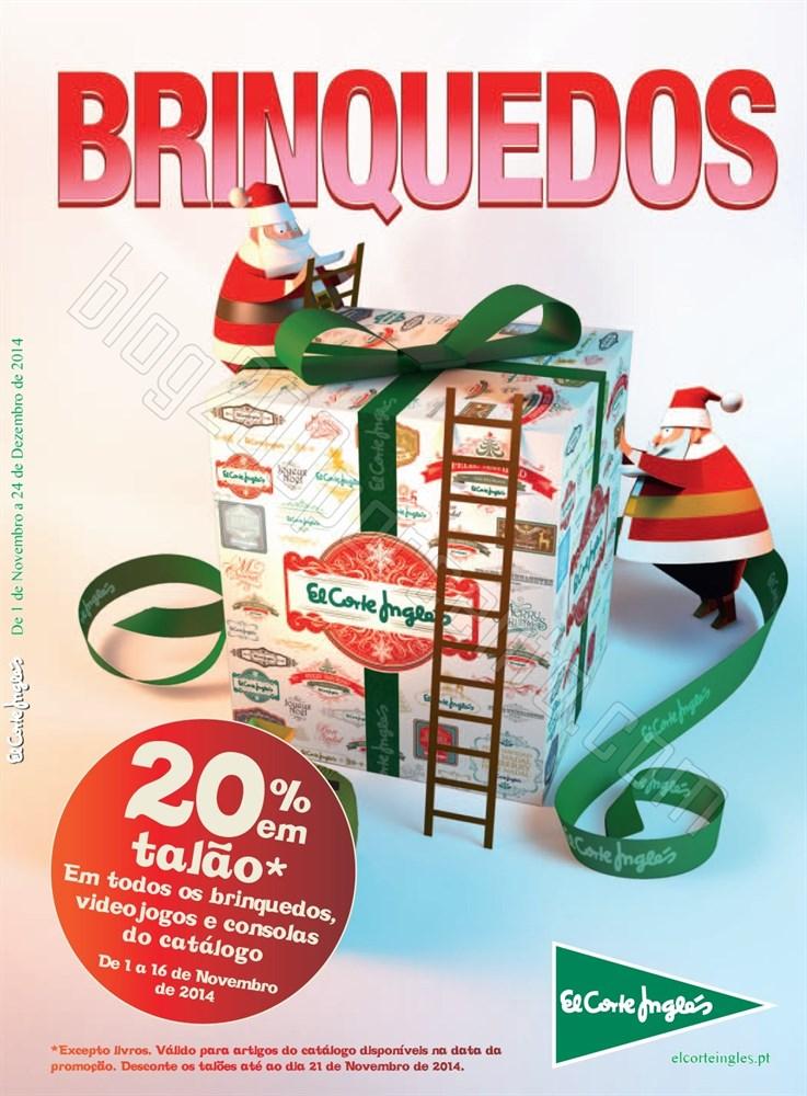 Novo Folheto EL CORTE INGLÉS Brinquedos até 24 d
