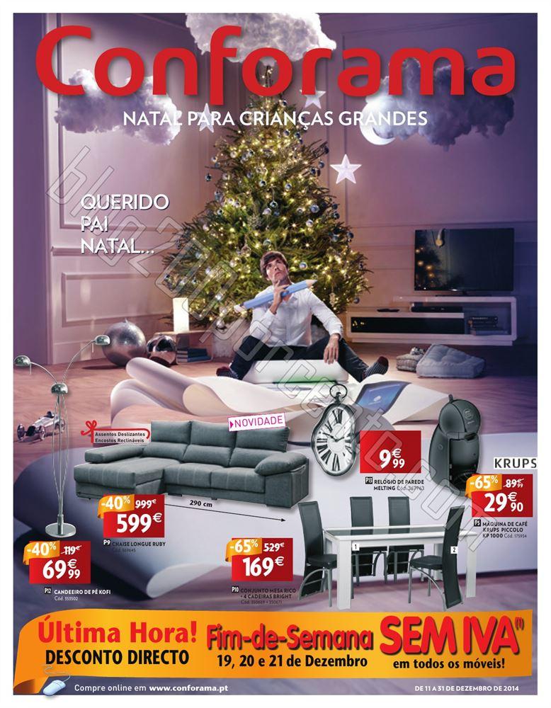 Novo Folheto CONFORAMA Natal de 11 a 31 dezembro p