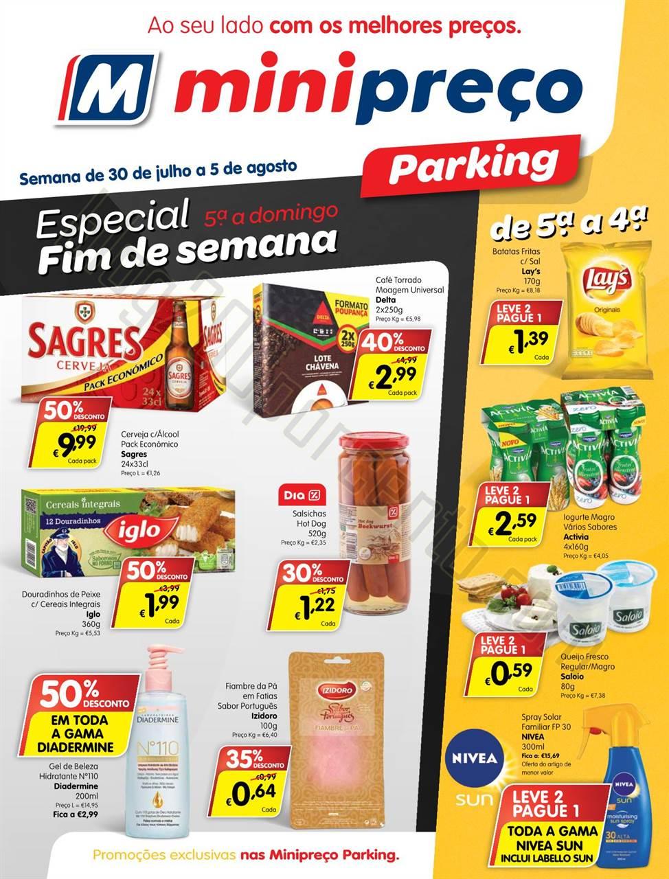 Antevisão Folheto MINIPREÇO Parking de 30 julho