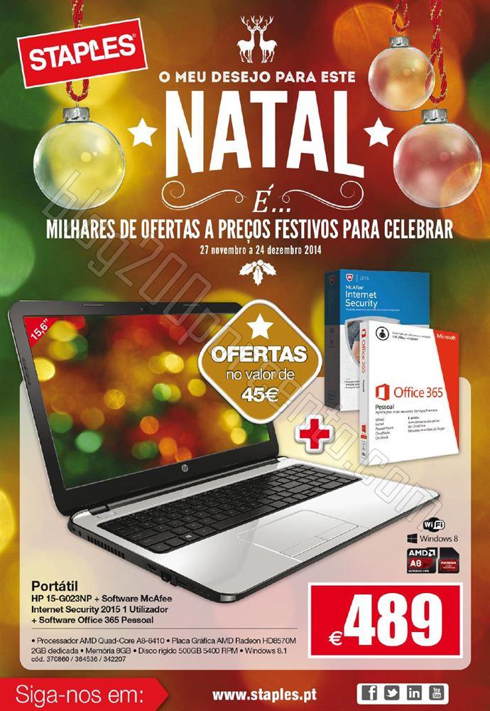 Antevisão Folheto STAPLES Natal de 27 novembro a