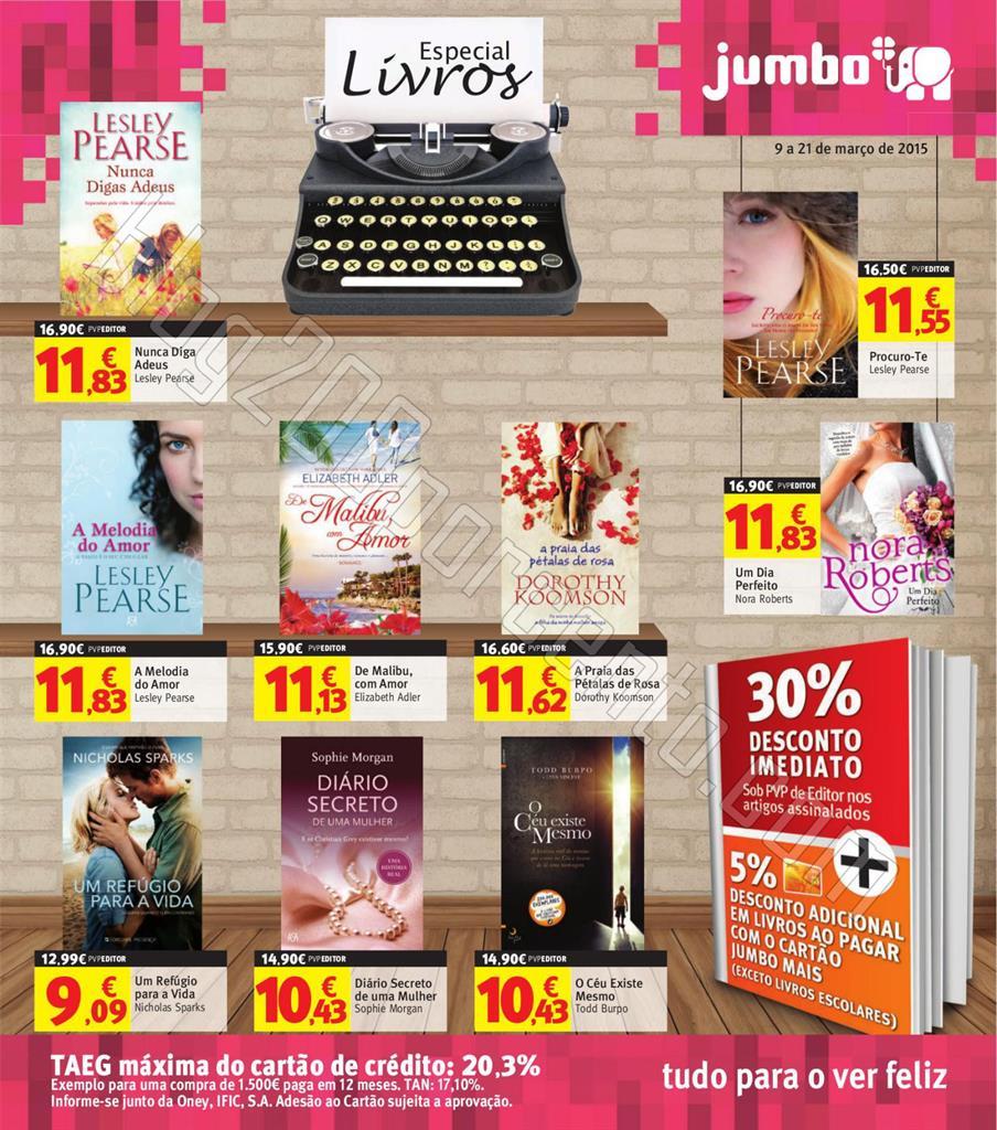 Novo Folheto JUMBO Especial Livros de 9 a 21 març