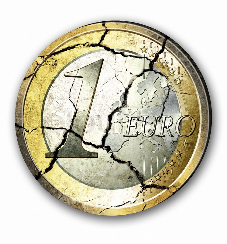 2477321-broken-one-euro-coin