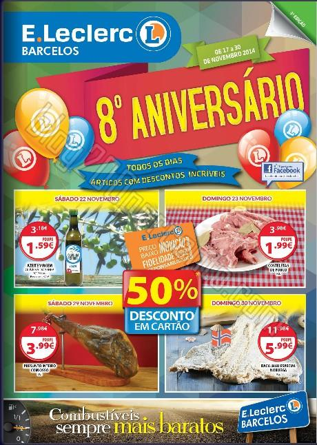 Antevisão Folheto E-LECLERC Barcelos promoções de 17 a 30 novembro,