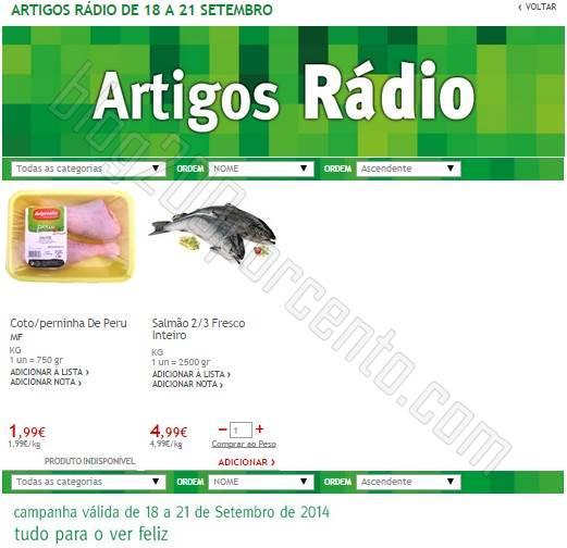 Promoções Radio JUMBO de 18 a 21 setembro