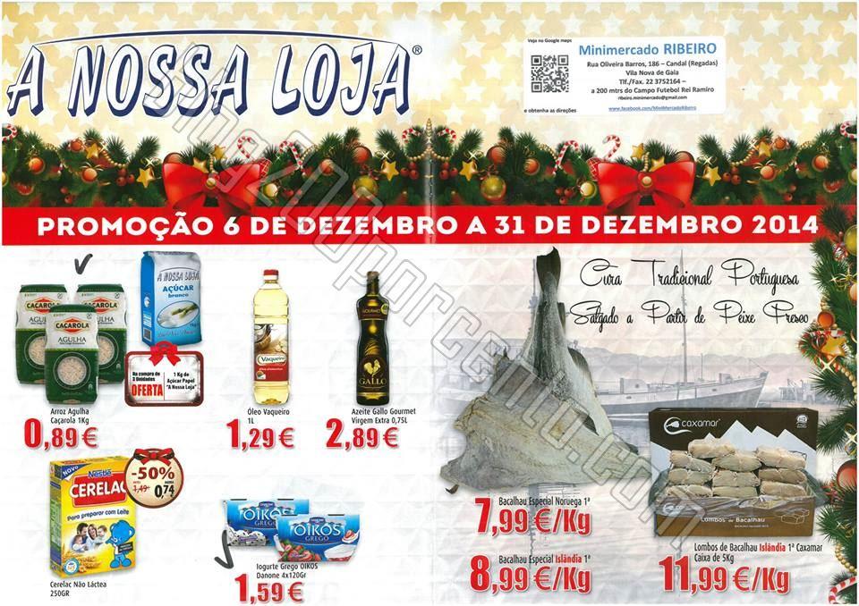 Antevisão Folheto A NOSSA LOJA de 6 a 31 dezembro