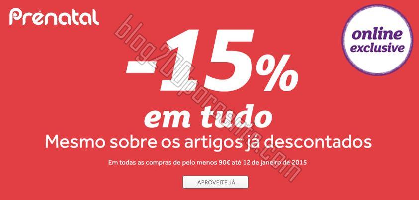15% de desconto Extra PRÉ-NATAL de 9 a 12 janeiro