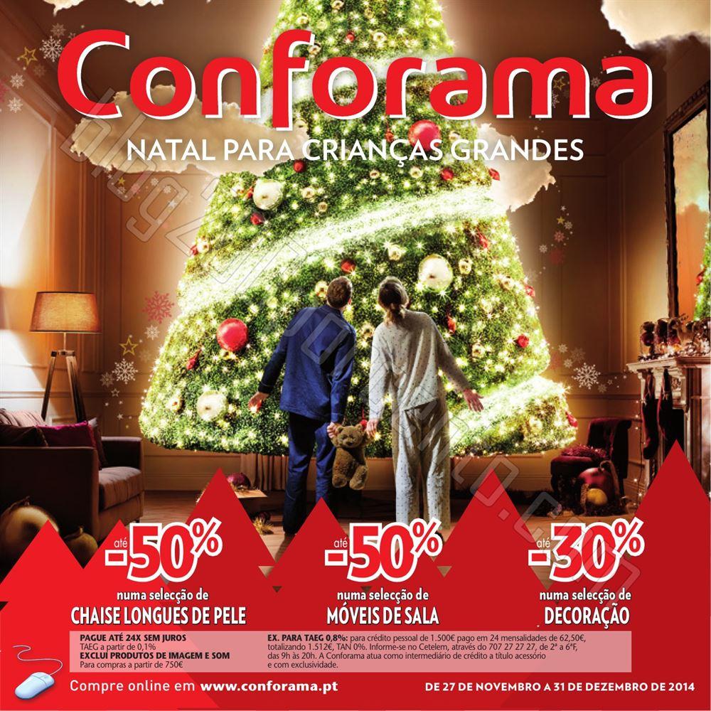 Novo Folheto CONFORAMA Natal de 27 novembro a 31 d
